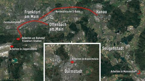 """Geplante Arbeiten am """"Knoten Frankfurt"""" im Bundesverkehrswegeplan"""