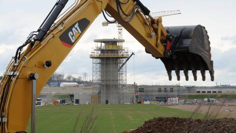 Bauarbeiten am Flughafen Kassel-Calden