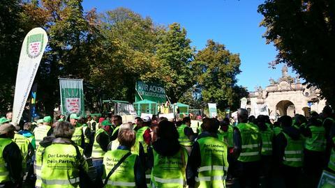 Bauern auf Demo in Fulda