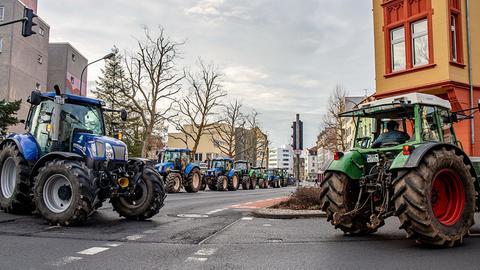 Traktor-Korso in Fulda