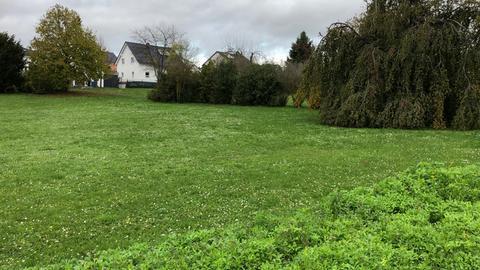 """Weiter Freifläche oder künftig Neubaugebiet? Der """"Friedhofspark"""" in Nieder-Mörlen"""