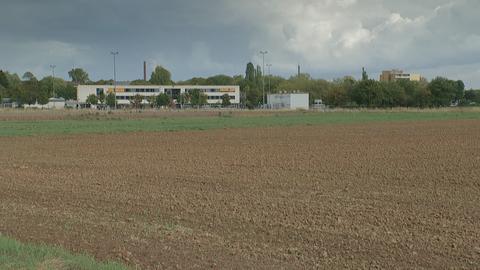 Acker- und Wiesenfäche, auf der Wohngebiet entstehen könnte