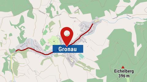 Landkarte von Bensheim-Gronau