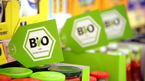 Lebensmittel mit Bio-Label