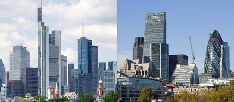 Finanzplatz Frankfurt am Main und Finanzplatz London