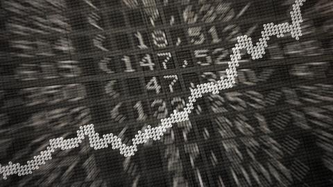 Dax-Kurve vor verschiedenen Börsenkursen