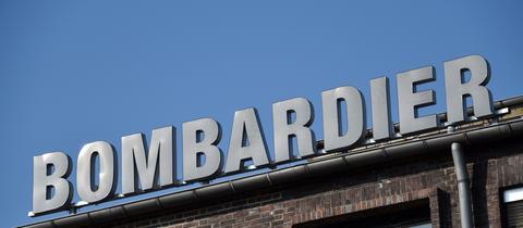 Schriftzug des Bombardierwerks in Kassel.