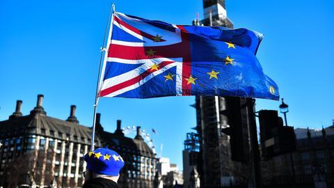Teilnehmer einer Anti-Brexit-Demo am Montag in London