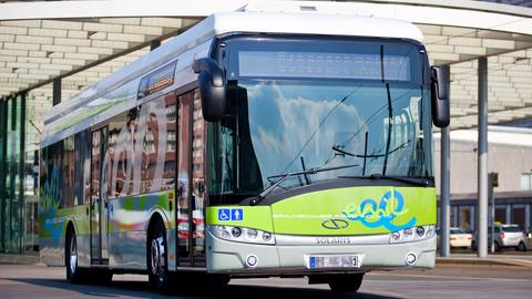 Elektro-Bus von Solaris | picture-alliance/dpa