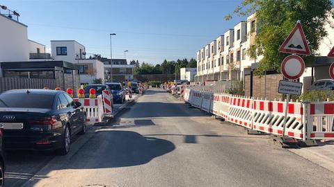 Wohngebiet An den Eichen in Offenbach, durch das E-Busse rollen und wenden sollen