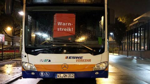 Busse in Wiesbaden werden bestreikt