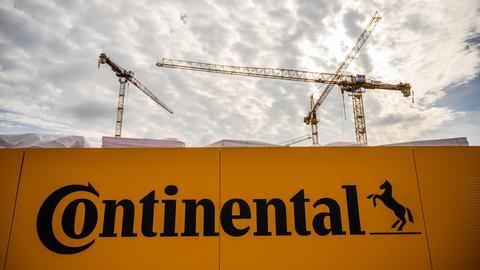 Bauarbeiten am Continental-Hauptsitz in Hannover.