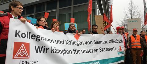 Demo bei Siemens in Offenbach