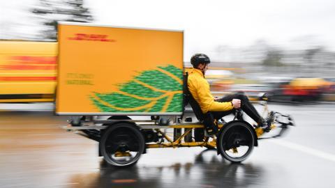 DHL-Cubicycle, ein Lastenfahrrad mit Containerbox