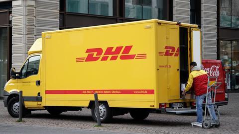 DHL-Paketdienst in Frankfurt