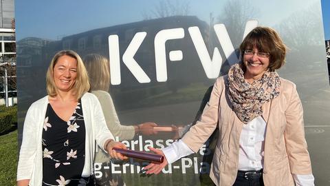 Silke Diedrich und Alexandra Kahl, Abteilungsleiterinnen in der Förderbank Kfw