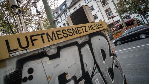 Luftmessstation an der Friedberger Landstraße in Frankfurt