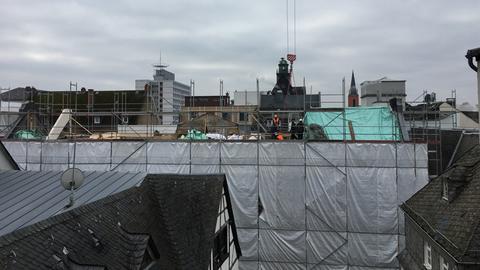 Blick auf die Baustelle des Dom Hotels.
