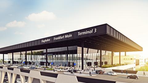das Terminal 3 am Frankfurter Flughafen
