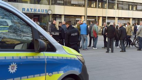 Proteste gegen die Erhöhung der Grundsteuer in Offenbach