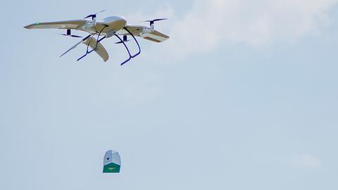 Drohne des Start-Ups Wingcopter