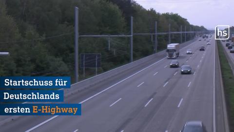 Der neue E-Highway auf der A5.