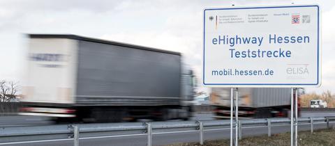 Lastwagen-Teststrecke auf A5