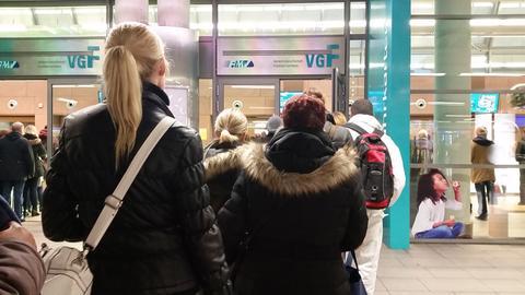 eticket Verkaufsschalter VGF Hauptwache