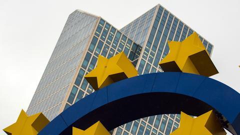 Das Eurozeichen in Frankfurt