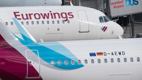 Keine Eurowings-Flugzeuge in Frankfurt