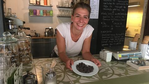 Andrea Wagner in ihrer Schokoladenmanufaktur.