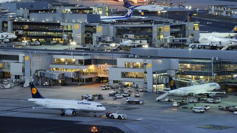 Vorfeld des Frankfurter Flughafens