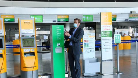 Am Frankfurter Flughafen gelten besondere Schutzmaßnahmen.