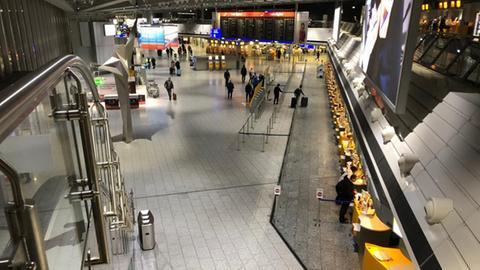 Blick ins Flughafen-Terminal