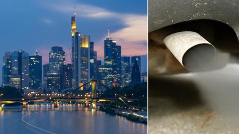 Collage Dieselverbot Frankfurt