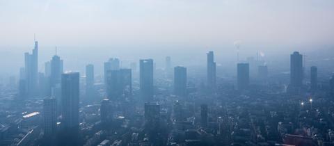 Skyline von Frankfurt von oben