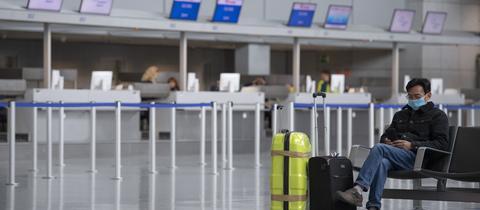 Gähnende Leere am Frankfurter Flughafen