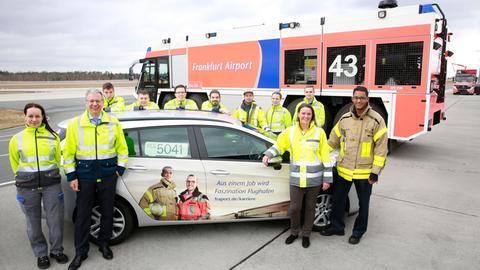 Fraport-Mitarbeiter am Frankfurter Flughafen