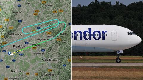 Flugroute des Condor-Fluges, Boeing 767