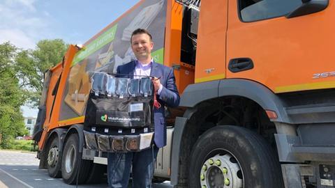 Auf der Suche nach Funklöchern: die Müllabfuhr hilft