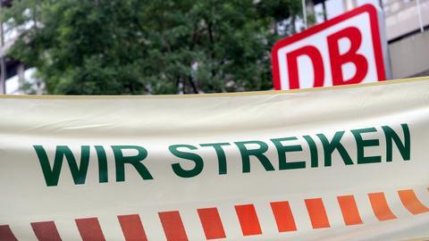 """GDL Streik Plakat mit """"Wir streiken"""""""