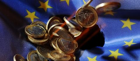 EU-Flagge mit Geld