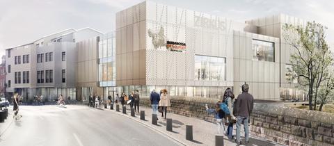 """Entwurf zum geplanten """"Barbarossa Outlet Center"""" in Gelnhausen"""