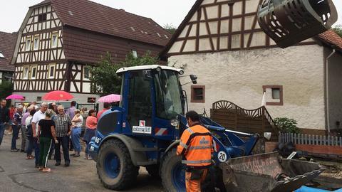 Protest in Gronau wegen Bauarbeiten