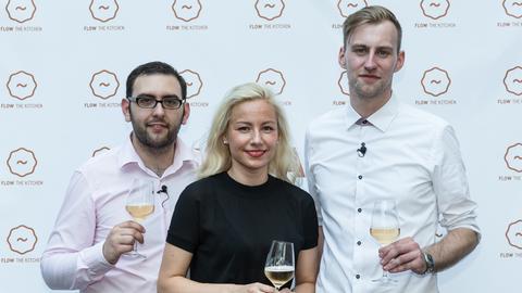 Kreative Caterer: Daniel Wittstock, Mia Knecova und Florian Große