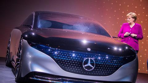 Der Mercedes Vision EQS.