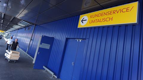 Umtausch-Anlaufstelle einer Ikea-Filiale