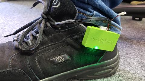 Technik am Schuh im Praxistest für die Impulssohle