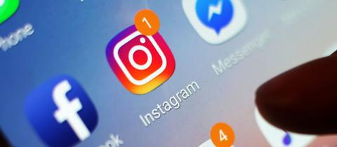 Instagram-App auf einem Smartphone