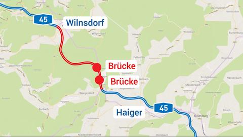 Karte Brücken